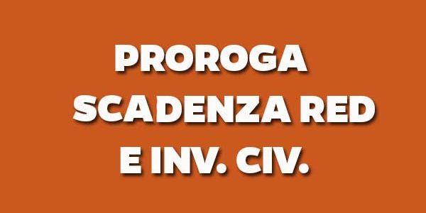 PROROGA SCADENZA DICHIARAZIONI DI RESPONSABILITA' (RED/INV.CIV.) – ORDINARI E SOLLECITI