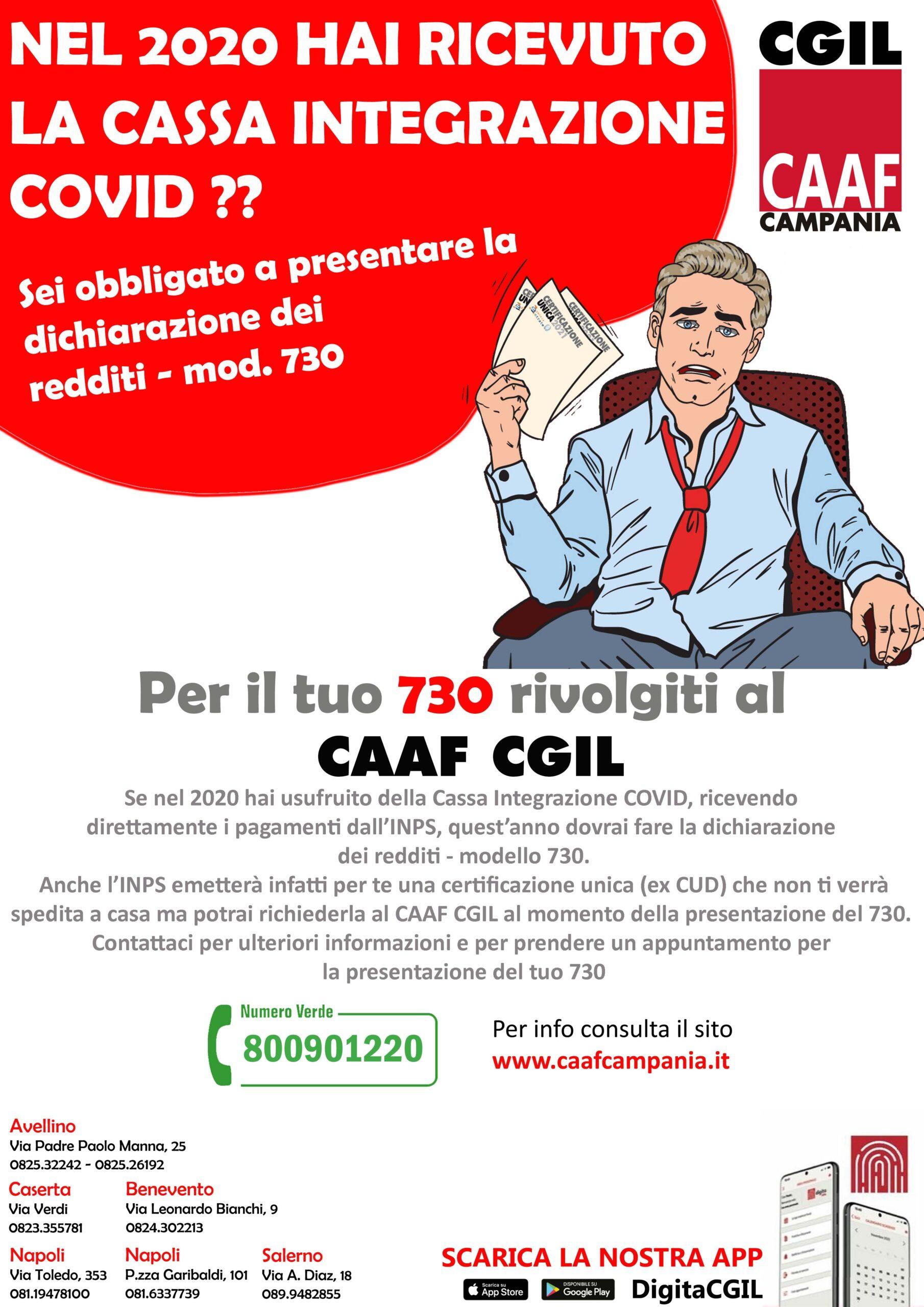 """730/2021 – HAI USUFRUITO DELLA CASSA INTEGRAZIONE """"COVID"""" ??"""